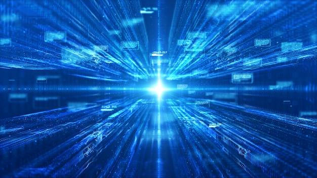 Technologie digitale matrix en lichte abstracte achtergrond