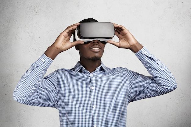 Technologie, innovatie en cyberspace-concept.