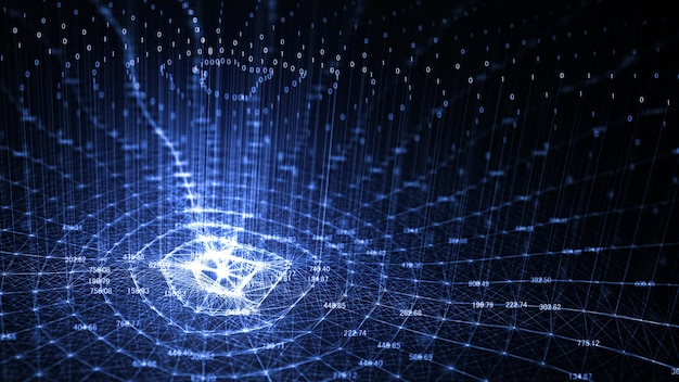 Technologie kunstmatige intelligentie (ai) en internet van dingen achtergrond