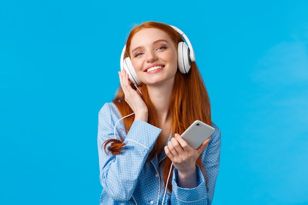 Technologie, muziek en entertainmentconcept.