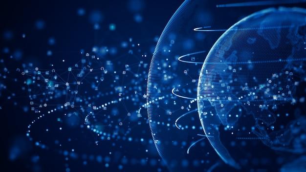 Technologie netwerk dataverbinding digitaal datanetwerk