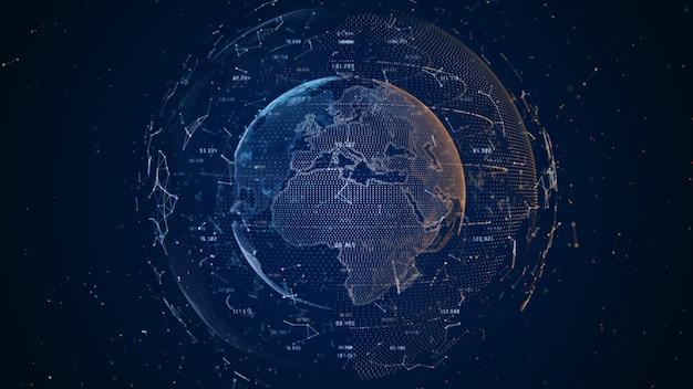 Technologie netwerk grote gegevensverbinding