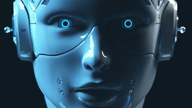 Technologie robot sai fi robots 3d render