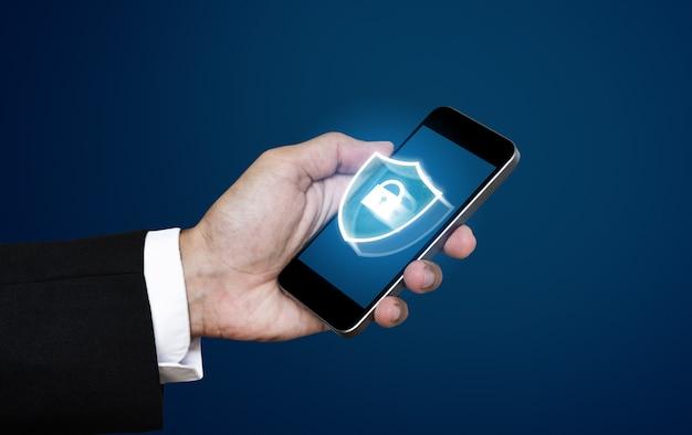 Technologie voor gegevensbeveiliging en verificatiesysteem van mobiele telefoons