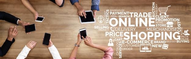 Technologie voor online winkelen en betalingstransacties via internet.