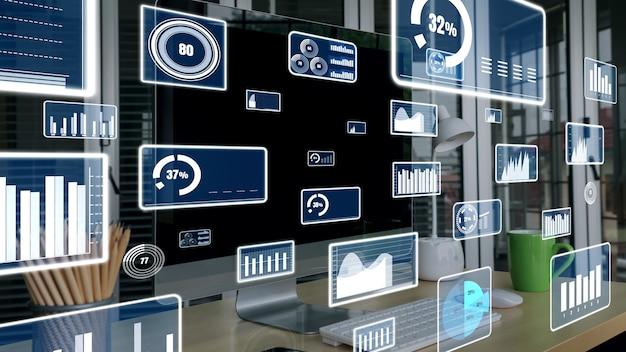 Technologie voor zakelijke visuele data-analyse door creatieve computersoftware