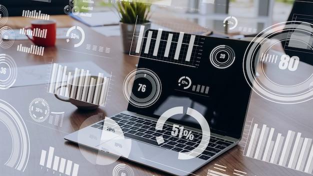 Technologie voor zakelijke visuele gegevensanalyse door creatieve computersoftware