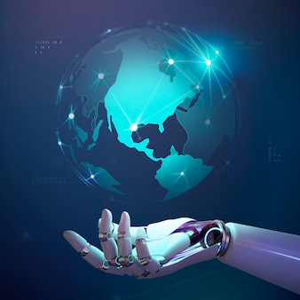 Technologie wereldwijde ai-race, informatienetwerkverbinding