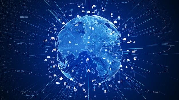 Technologienetwerk en gegevensverbindingsachtergrond