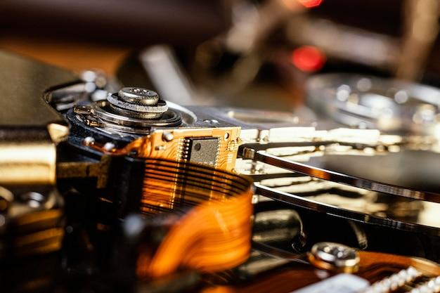 Technologische achtergrond close-up