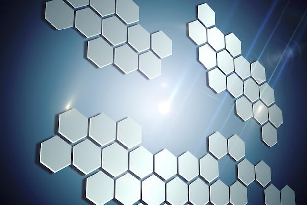 Technologische achtergrond met zeshoeken