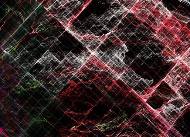 Technologische gestructureerde achtergrond. 3d fractal afbeeldingen. wetenschap en technologie concept.