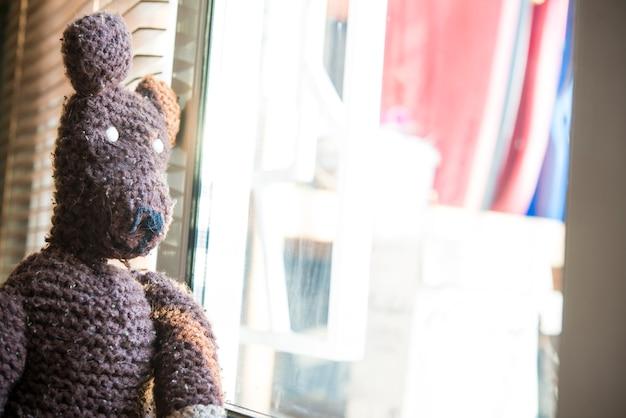 Teddybeer in huis
