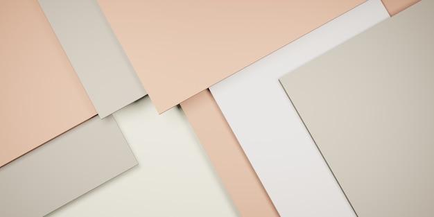 Tegel achtergrond pastel geometrie hiërarchie van abstracte vierkanten 3d illustratie