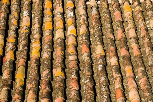 Tegel dak textuur