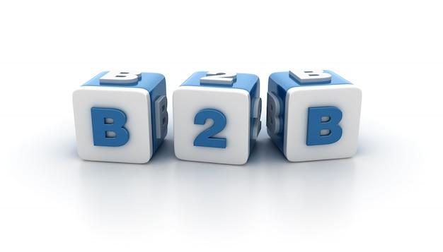 Tegelblokken met b2b word