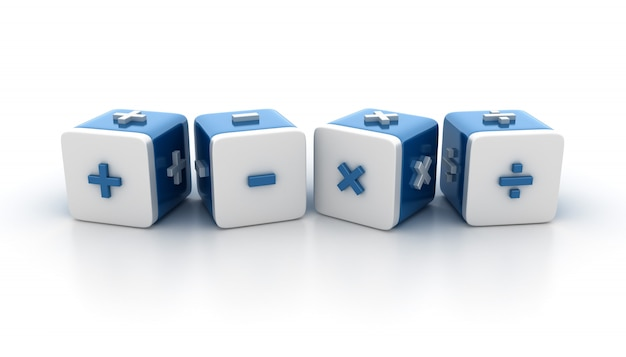 Tegelblokken met math-symbolen