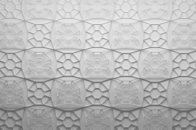 Tegels gemaakt van veelhoekige maasvormen met acht randen