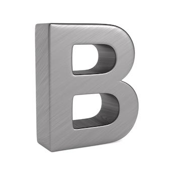 Teken b op witte ruimte. geïsoleerde 3d-afbeelding