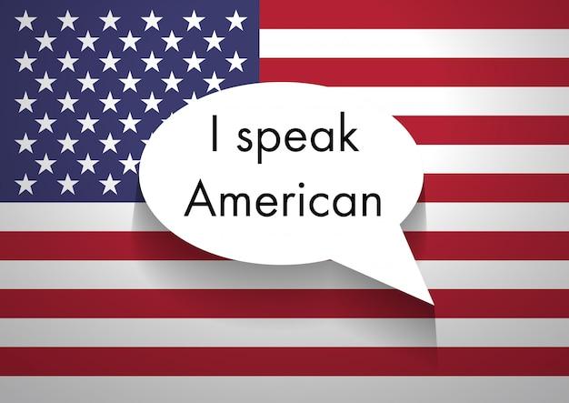 Teken dat amerikaans engels spreekt