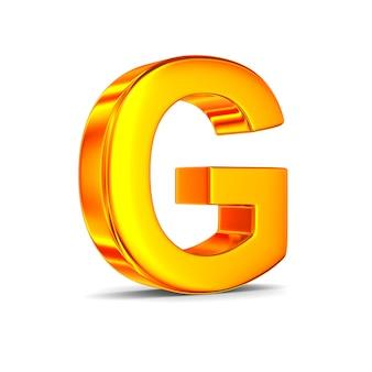 Teken g op witte ruimte