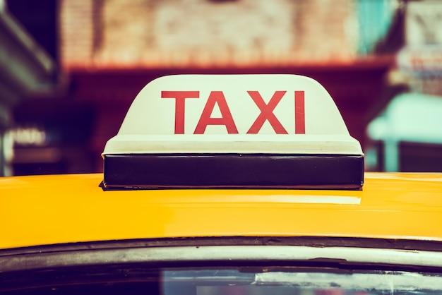 Teken van de taxi
