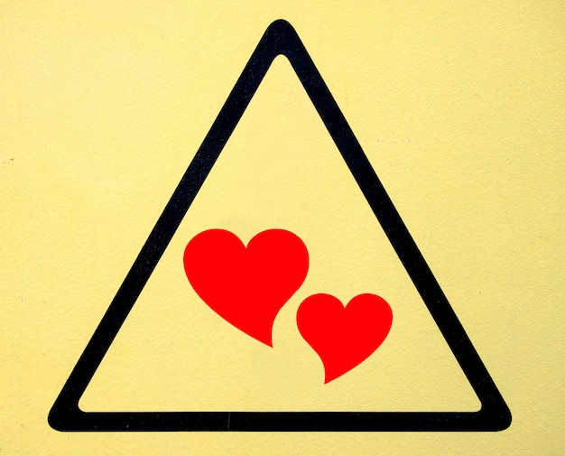 Teken van gevaar hoogspanning symbool