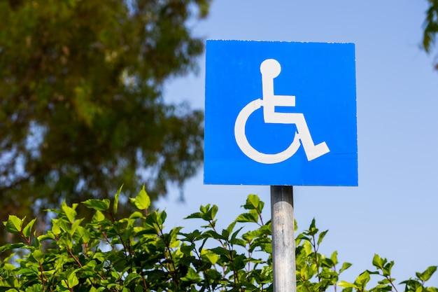 Teken voor gehandicapten