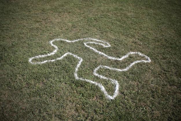 Tekenlijn van een man stierf