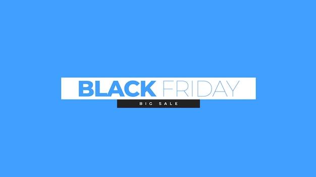 Tekst black friday op blauwe mode en minimalisme achtergrond met geometrische vorm. elegante en luxe 3d illustratie voor zakelijke en zakelijke sjabloon