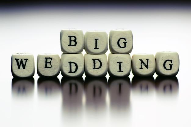Tekst bruiloft kubus