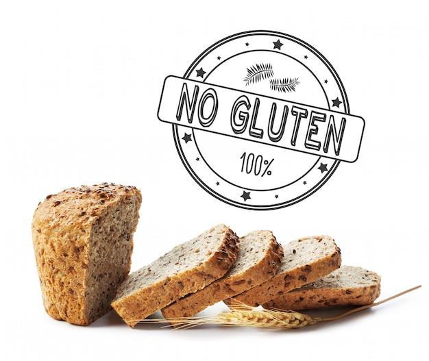 Tekst glutenvrij op brood