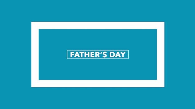 Tekst vaders dag op blauwe mode en minimalisme achtergrond. elegante en luxe 3d-illustratiestijl voor zakelijke en zakelijke sjabloon