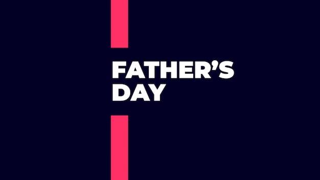 Tekst vaders dag op blauwe mode en minimalisme achtergrond met geometrische lijnen. elegante en luxe 3d-illustratiestijl voor zakelijke en zakelijke sjabloon