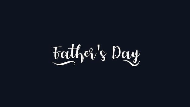 Tekst vaders dag op zwarte mode en minimalisme achtergrond. elegante en luxe 3d-illustratiestijl voor zakelijke en zakelijke sjabloon