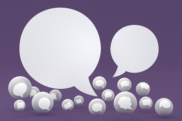 Tekstballon emoji's 3d render