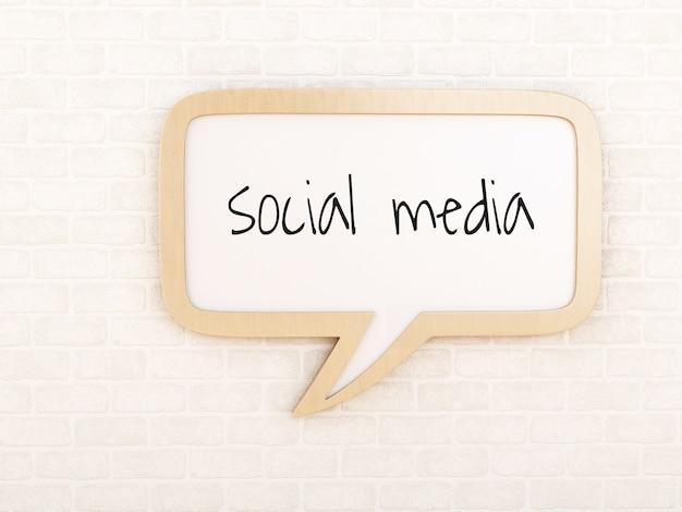 Tekstballon met sociale media