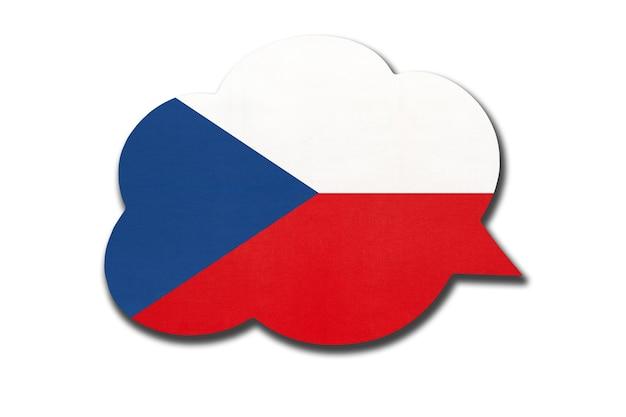 Tekstballon met tsjechische nationale vlag