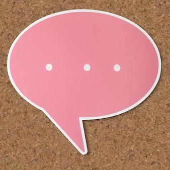 Tekstballon uitgeknipt pictogram