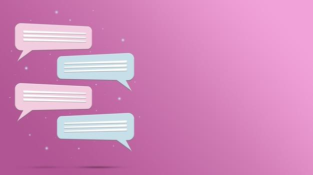 Tekstballonnen in de vorm van sociale dialoog