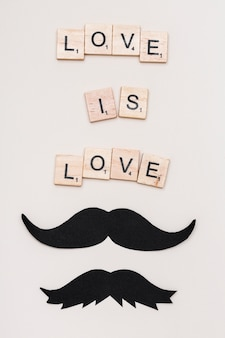 Tekstliefde is liefde en snor