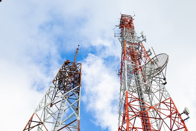 Telecommunicatie antenne satelliet toren technologie