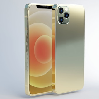 Telefoon goud avec 3 camera