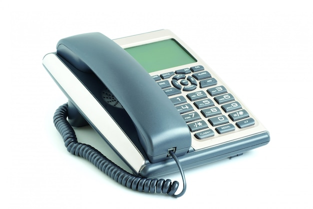 Telefoon op geïsoleerd wit