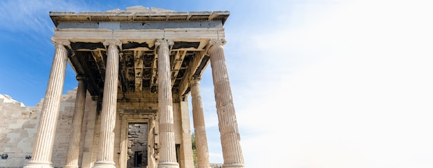 Tempel akropolis, athene, griekenland