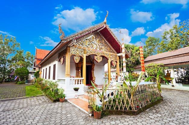 Tempel op de heuvel (wat phra that mae yen) in pai, provincie mae hong son, thailand