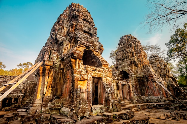 Tempel van angkor wat. oude architectuur