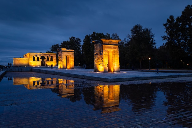 Tempel van debod in madrid, spanje.