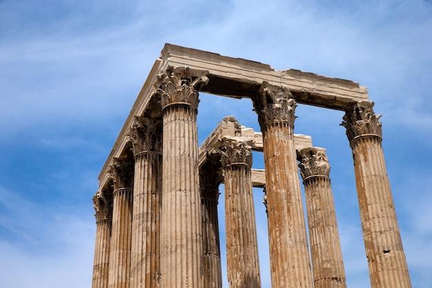 Tempel van olympische zeus, athene, griekenland.