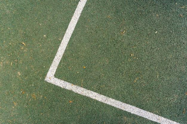 Tennisbaan lijn markering verf
